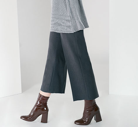 Trousers jeans and skirts