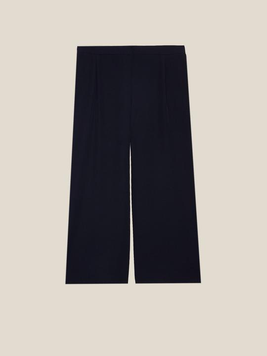 90eff9e90b61 ... Elenamiro  Pantaloni cropped con bordi lurex Blu 1