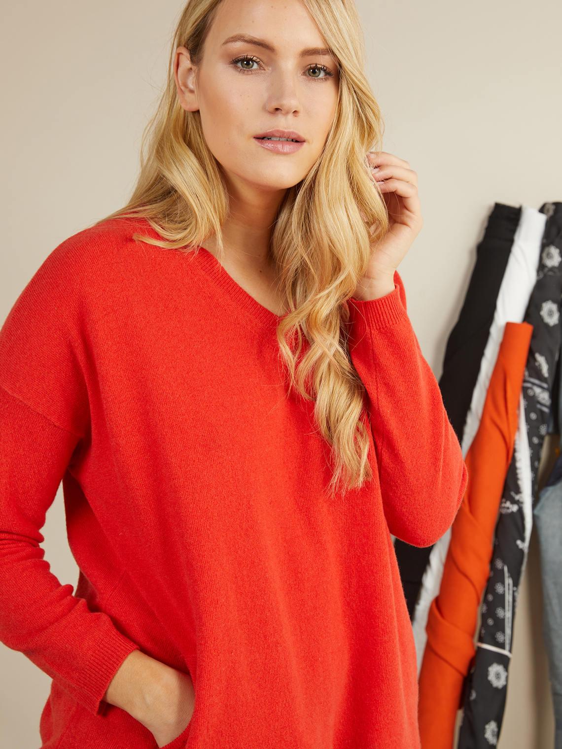Elenamiro  Maglia in lana e cashmere Arancione 1 dc787a70071
